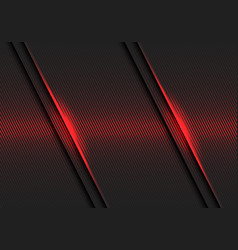 abstract red lines light pattern slash dark grey vector image