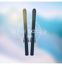 Alpine ski club logo vector image
