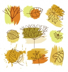 Autumn elements vector