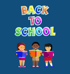 back to school promotion poster or flyer vector image