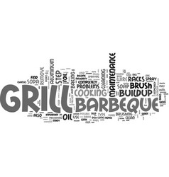 Barbeque maintenance tips text word cloud concept vector