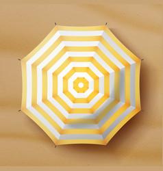 Beach umbrella realistic parasol icon vector