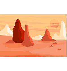 Beautiful natural desert landscape scene of vector