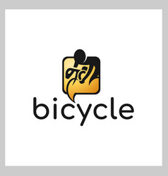 bike talk logo vector image