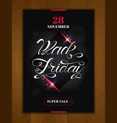 black friday sale design poster black friday vector image vector image