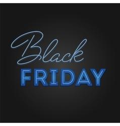 Black Friday Sale retro light frame Neon design vector image