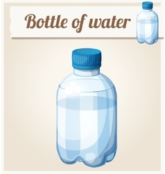 bottle water detailed icon vector image