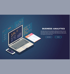 Business analytics and development banner vector