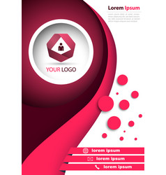 Business red banner - a4 format vector