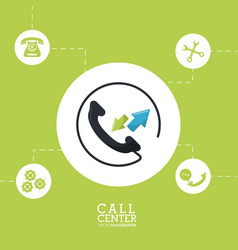call center phone customer service vector image