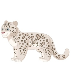 cartoon smiling snow leopard vector image