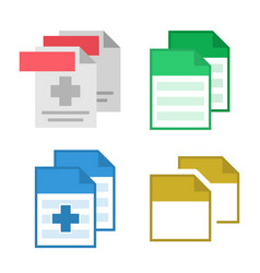 collection blank file document icon set vector image