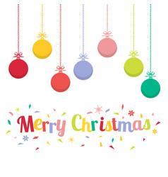colored christmas balls christmas ornaments vector image