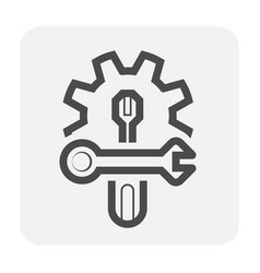 Config setting icon vector
