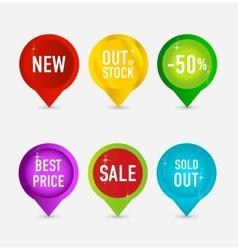 creative and elegance web pins symbols vector image