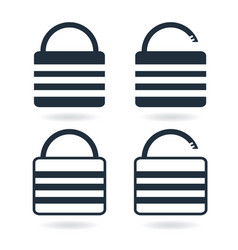 creative lock icon in trendy flat style isolated vector image