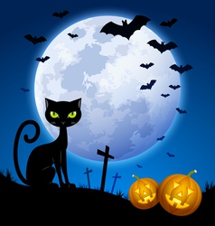 Creepy Halloween scene vector image