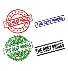 damaged textured the best prices seal stamps vector image