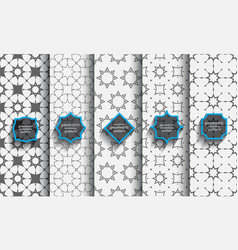 Delicate seamless islamic patterns set vector