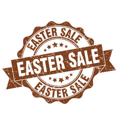 Easter sale stamp sign seal vector