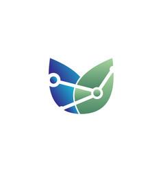Eco connection logo vector