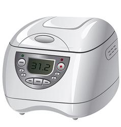 Electric cooker vector
