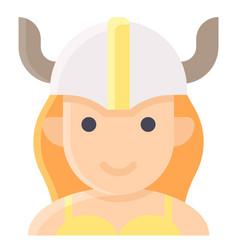 Female viking avatar halloween costume icon vector