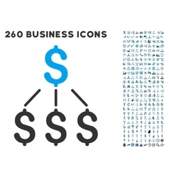 Financial Structure Icon with Flat Set vector