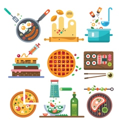Food in process vector