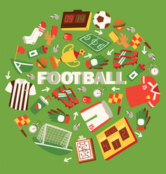 football equipment with field vector image