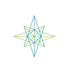 geometric compass logo vector image