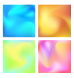 Gradient set modern abstract background colorful vector