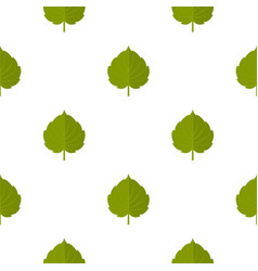 green alder leaf pattern seamless vector image