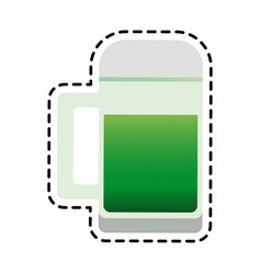 Green beer icon image vector