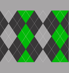 green gray argyle fabric texture seamless pattern vector image