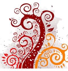 Grunge Floral Autumn Design vector