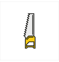 Handsaw icon on white background vector