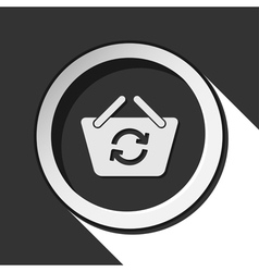 Icon - shopping basket refresh and shadow vector