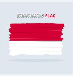 Indonesian flag design vector