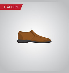 Isolated man shoe flat icon male footware vector