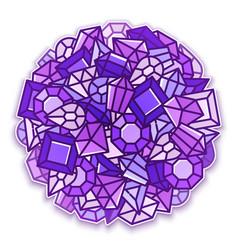 jewels background vector image