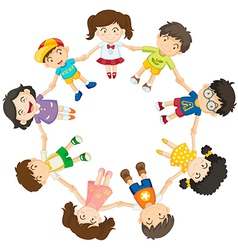 Kids forming a circle vector image