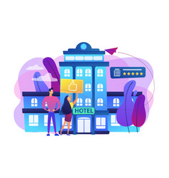 Lifestyle hotel concept vector