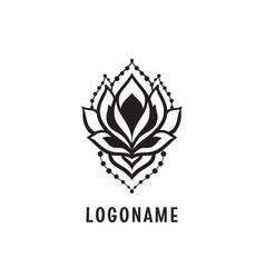 lotus yoga esoteric art vector image