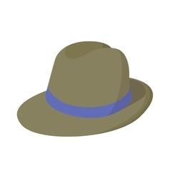 Man hat icon cartoon style vector image