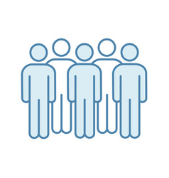 meeting color icon vector image