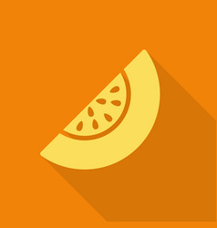 melon flat icon with shadow vector image