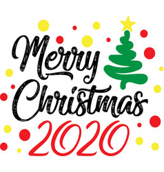 Merry christmas 2020 on white background vector