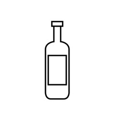 oil bottle icon vector image