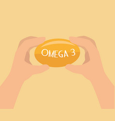 Omega 3 product healthy vector